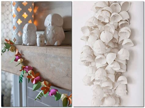 Paper Flowers Floral Garland Decor Home Wall Decor Paper Garlands Home D 233 Cor That Makes You Happier Home Interior Design Kitchen And Bathroom