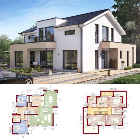 satteldach haus design modern mit erker einfamilienhaus