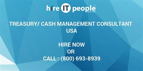 Tn Visa Management Consultant Mba by Treasury Management Consultant Hire It We