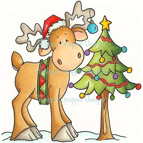 christmas moose digi s sts i want pinterest