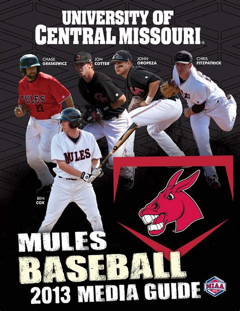 Of Central Missouri Mba Sports by 2013 Central Missouri Mules Baseball Media Guide By Ucm