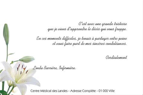 Modèles De Lettres De Condoléances Exemple De Lettre De Sinceres Condoleances Covering Letter Exle