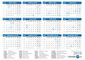 Calendario 2019 Argentina Calendario 2019