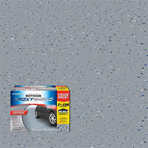 garage floor epoxy kit rust oleum epoxyshield 2 gal gray 2 part high gloss epoxy garage floor coating kit shop your