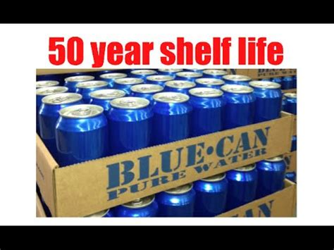 Shelf Of Water by 50 Year Shelf Emergency Canned Water By Blue Can