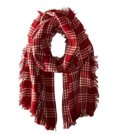 fray plaid scarf san diego hat company bss1533 plaid scarf with fray edges