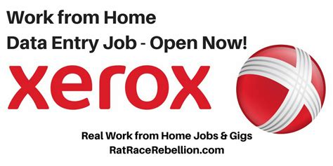 work from home data entry at xerox real work from