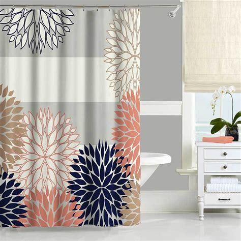 blue bathroom shower curtains top navy blue shower curtain design rs floral design
