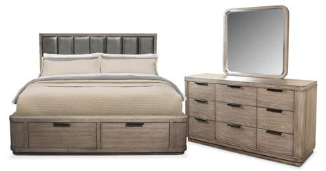 Malibu 5 Piece King Low Upholstered Storage Bedroom Set Malibu Bedroom Furniture