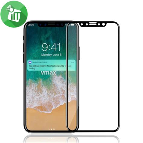 Tempered Glass Iphone X Cover Screen Vmax 3d Cover Tempered Glass Screen Protector For