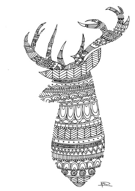 coloring pages for adults deer 17 best images about seppe on pinterest adult coloring
