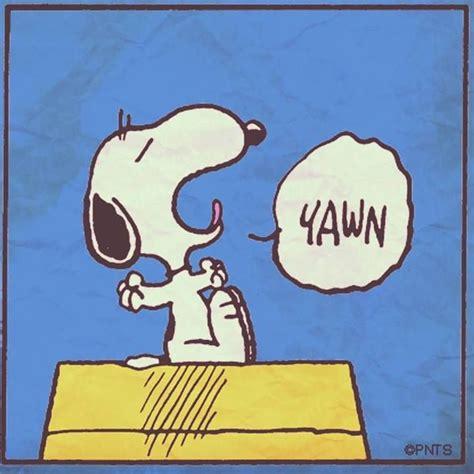 Time To Go To Bed by Snoopy Bedtime Yawn Goodnight With
