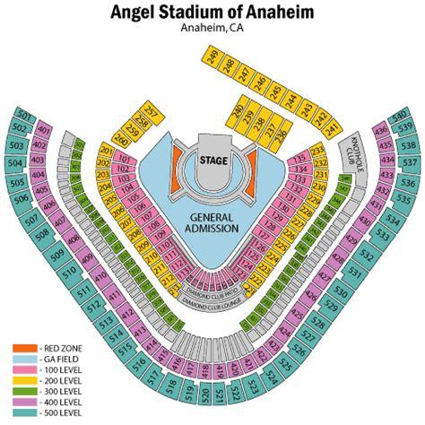 anaheim stadium seating u2 june 18 tickets anaheim angel stadium of anaheim u2