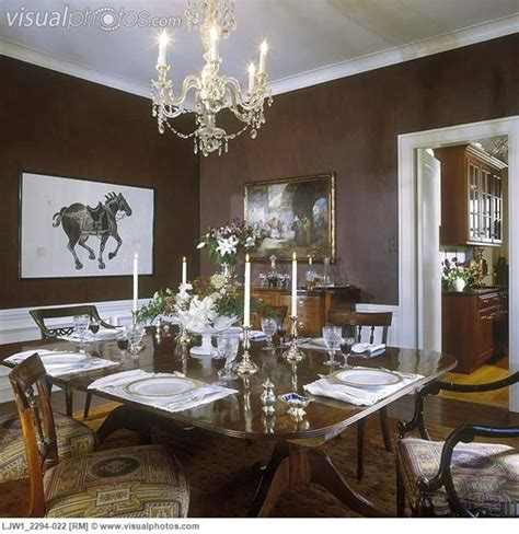 Brown Dining Room by Black And White Painted Rooms Dining Room Formal Fruitwood Table Brown Sponge Paint