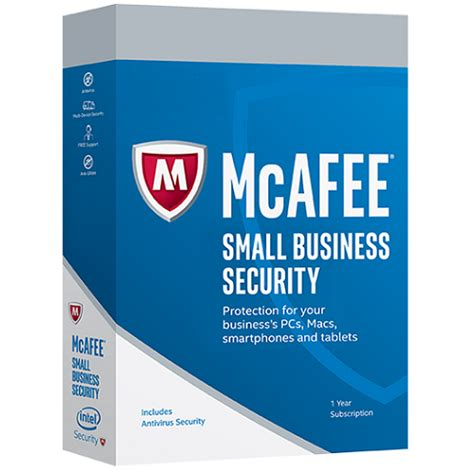 mcafee small business security 1 year 1 pc or 1 mac