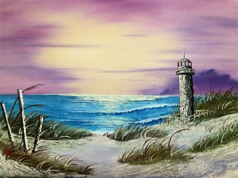 bob ross painting lighthouse seascape with lighthouse wetcanvas