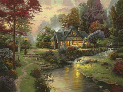 famous house painters thomas kinkade products and biography