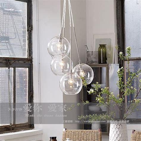 American Cluster Glass Pendant Transparent Round Ball Cluster Globe Pendant Lighting