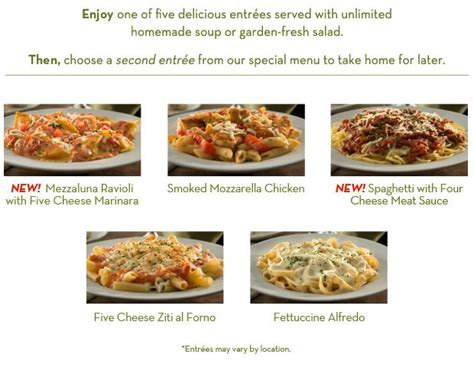 two sizzling offers at olive garden and longhorn