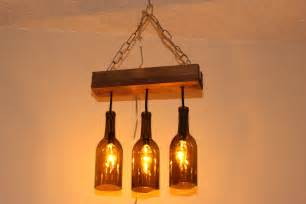 Wine Bottle Light Fixtures A Wine Bottle Chandelier Makes