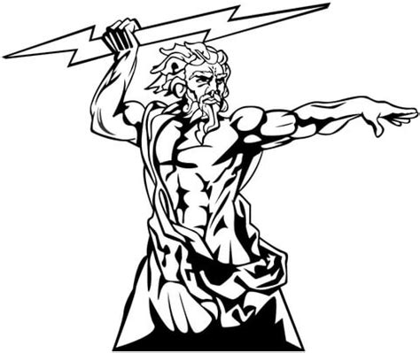coloring page zeus zeus the god of olympia coloring page supercoloring