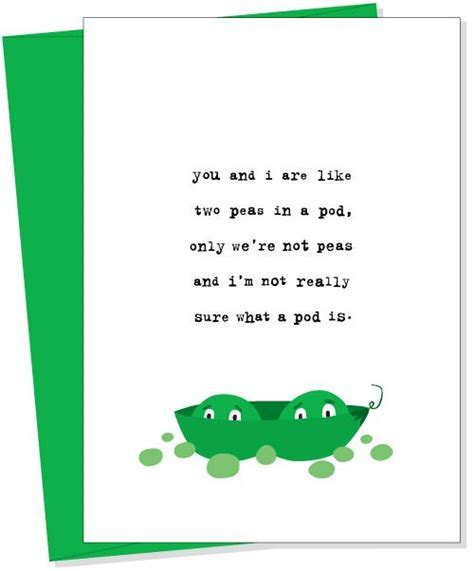 peas in a pod Greeting Card from Uncooked