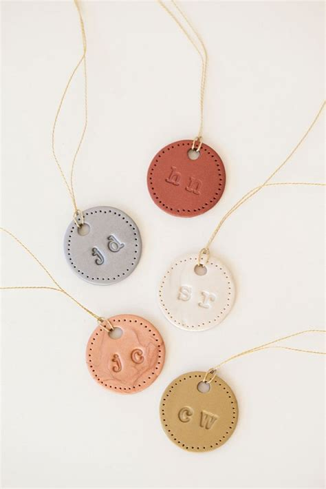 make these personalized clay bouquet charms