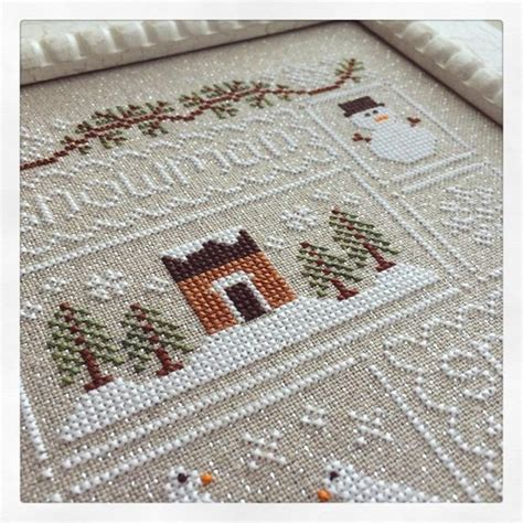 country cottage cross stitch clearance snow sler cross stitch chart country cottage