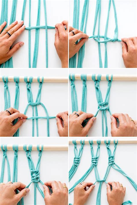 How To Tie A Macrame Square Knot - macra make a gorgeous macrame wall hanging brit co
