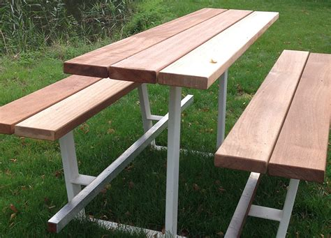 Handmade Picnic Table - second picnic tables cassecroute handmade picnic