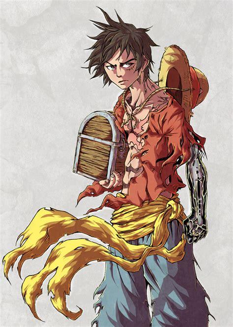 kaos anime onepiece capten luffi luffy the captain by pikoloz dreamin on deviantart