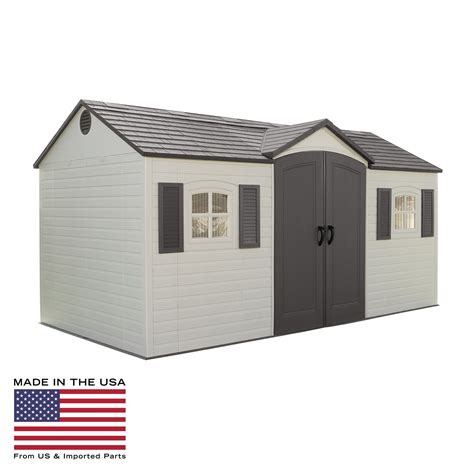 8 X 15 Shed by Lifetime 15 X 8 Ft Outdoor Garden Shed Storage Sheds At