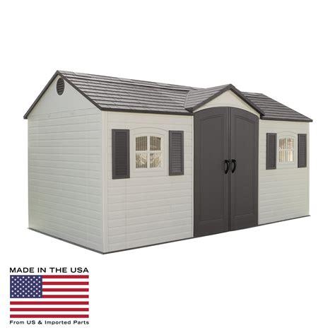 lifetime 15 x 8 ft outdoor garden shed storage sheds at