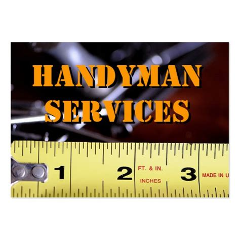 handyman card template handyman services2 large business cards pack of 100 zazzle