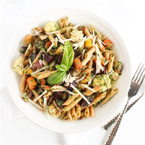 roasted root vegetable pasta fall roasted root vegetable pasta with kale pesto