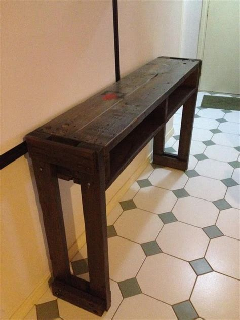 Side Table For Hallway Rustic Pallet Hallway Table Side Table Pallet Furniture Plans