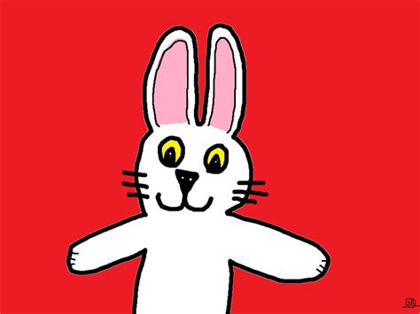 gif smiling red rabbit animated gif  gifer  ironcaster