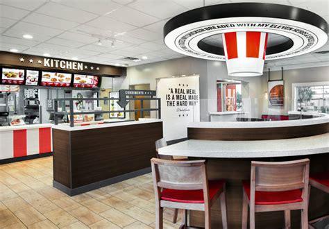 kfc store layout kfc s redesigned store looks like a half finished banksy