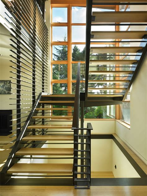 the fifth floor swimming pool an excellent addition to a the open steel stair w bamboo treads floats in the