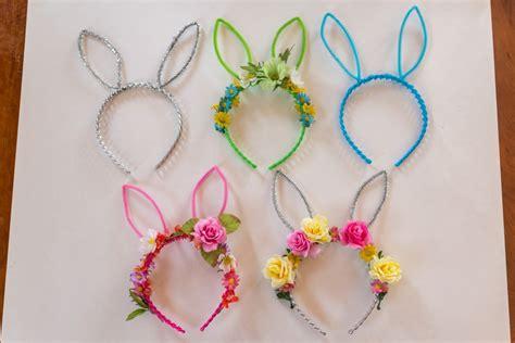 diy bunny ears diy bunny ears flower crown bebehblog