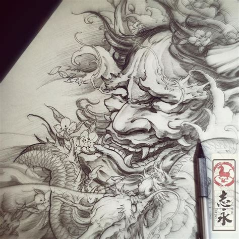 tattoo new school samurai 143 best images about hannya mask design tattoo on