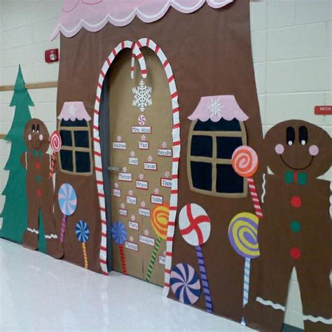 gingrbread house on school door gorgeous gingerbread house classroom display