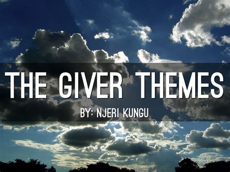 themes in book the giver the giver by njeri kungu