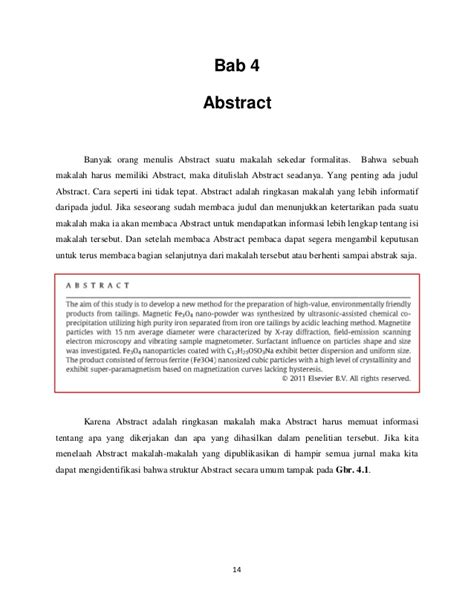 membuat artikel lingkungan contoh abstrak pada novel contoh yuk