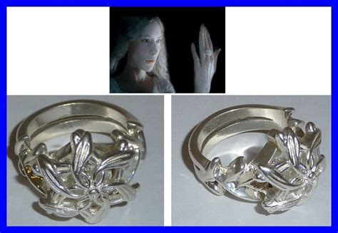 lotr lord rings galadriel ring nenya official silver