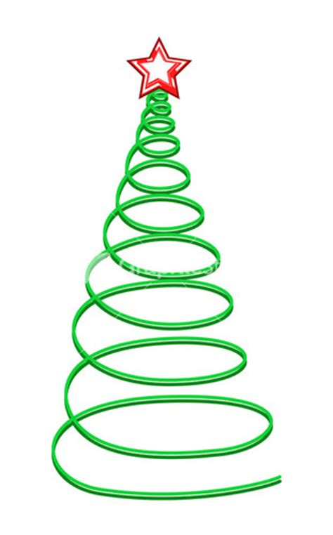 green spiral christmas tree striped tree with golden