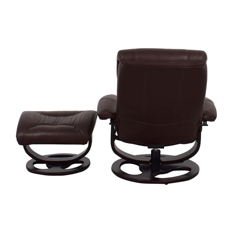 recliner chair ottoman 59 off macy s macy s aby brown leather recliner chair