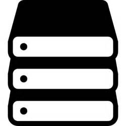 Data storage stack variant Icons | Free Download