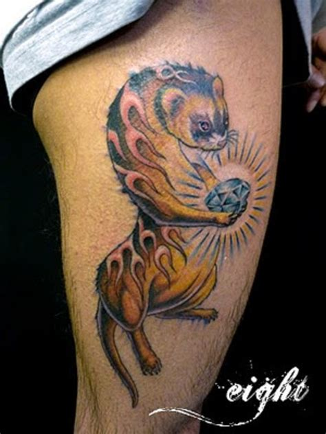 ferret tattoo pin by leoinia sifers on critters