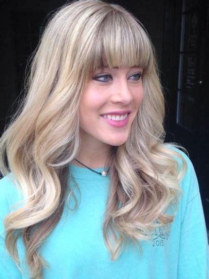 gorgeous long hairstyles  bangs